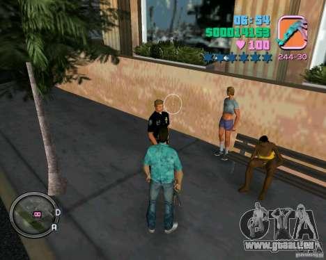 Neue Kleidung Bullen für GTA Vice City Screenshot her