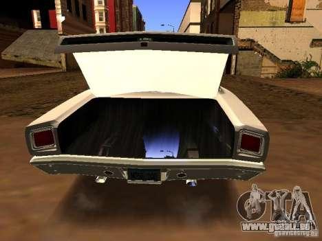 Plymouth GTX 1969 für GTA San Andreas zurück linke Ansicht