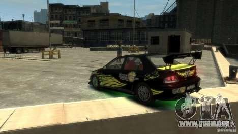 Mitsubishi EVO IX für GTA 4 hinten links Ansicht
