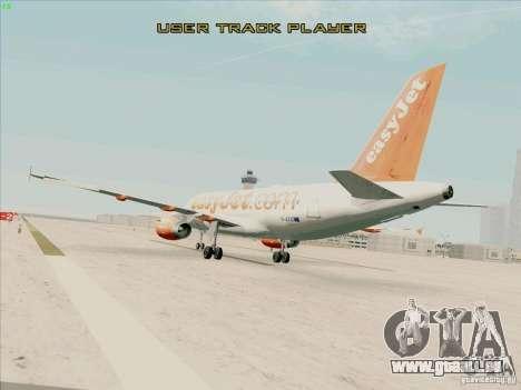 Airbus A319 Easyjet pour GTA San Andreas laissé vue