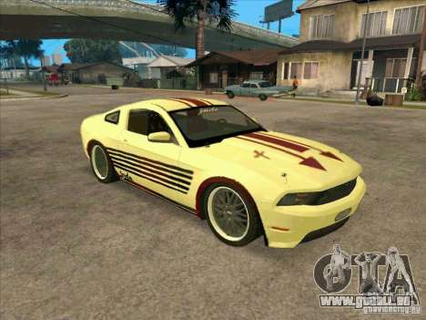 Ford Mustang Jade from NFS WM pour GTA San Andreas laissé vue