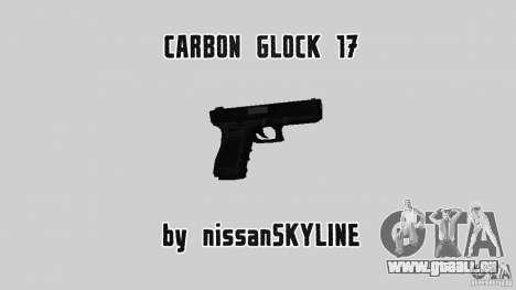 Carbon Glock 17 für GTA San Andreas