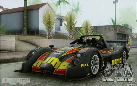 Radical SR3 RS 2009 für GTA San Andreas Innen