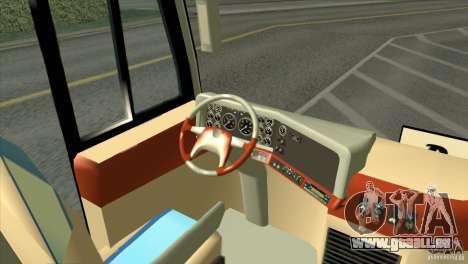 Hino New Travego RK1 für GTA San Andreas Rückansicht