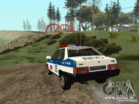VAZ 21099 DPS für GTA San Andreas zurück linke Ansicht