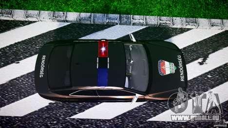 Audi S5 Hungarian Police Car black body pour GTA 4 est un droit