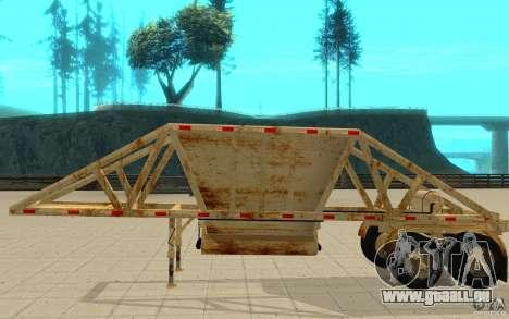 Petrotr remorque 2 pour GTA San Andreas sur la vue arrière gauche