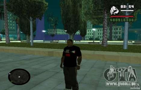 T-shirt basse dur. pour GTA San Andreas