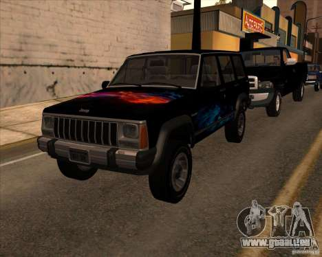 Jeep Cherokee pour GTA San Andreas vue de droite