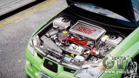 Subaru Impreza STI Wide Body pour GTA 4 est une vue de l'intérieur
