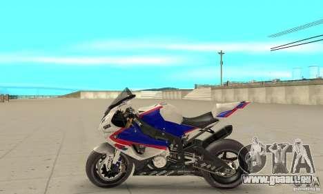BMW S1000RR 2009 pour GTA San Andreas laissé vue