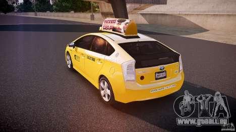 Toyota Prius LCC Taxi 2011 pour GTA 4 Vue arrière de la gauche
