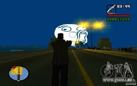Lol Guy dans le ciel pour GTA San Andreas deuxième écran