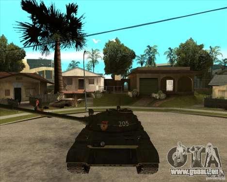 T-55 pour GTA San Andreas vue arrière