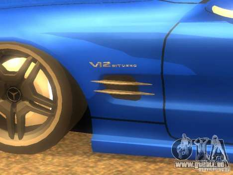 Mercedes-Benz SL65 AMG pour GTA San Andreas laissé vue