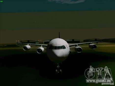 Airbus A-340-600 Singapore pour GTA San Andreas vue arrière