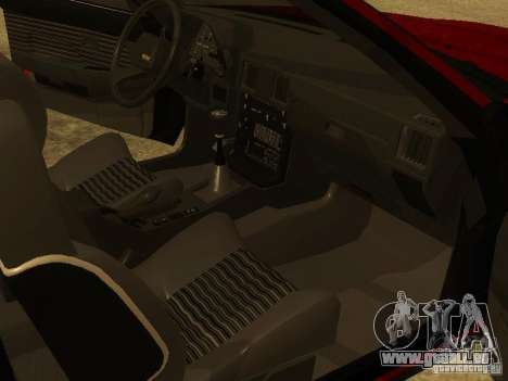 Toyota Celica Supra pour GTA San Andreas vue de dessous