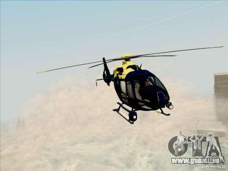 Eurocopter EC-135 Essex für GTA San Andreas zurück linke Ansicht