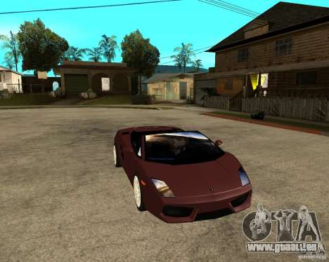 Lamborghini Gallardo LP560-4 Spyder pour GTA San Andreas vue arrière