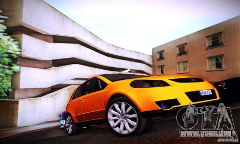Suzuki SX4 Sportback Black 2011 pour GTA San Andreas vue de droite