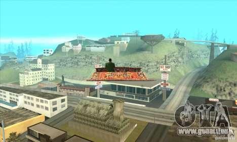 Flying Carpet v.1.1 pour GTA San Andreas vue de droite