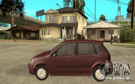 Volkswagen Polo 2006 pour GTA San Andreas laissé vue