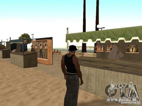 Marché sur la plage pour GTA San Andreas septième écran