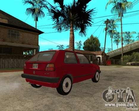 Volkswagen Golf Mk.II pour GTA San Andreas sur la vue arrière gauche