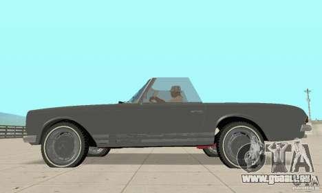 Mercedes-Benz 280SL (Matt) pour GTA San Andreas sur la vue arrière gauche