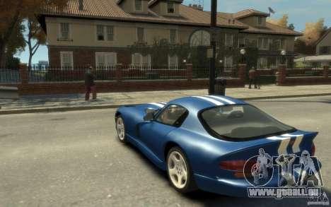 Dodge Viper GTS pour GTA 4 Vue arrière de la gauche