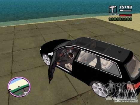 Audi A4 avant 3.2 QUATTRO pour une vue GTA Vice City de la gauche