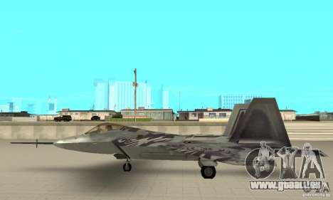 YF-22 Starscream für GTA San Andreas linke Ansicht