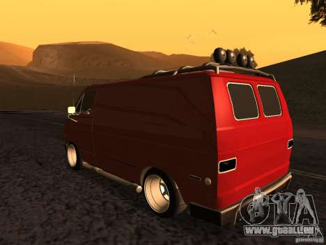 Dodge Tradesman 1976 Tuned pour GTA San Andreas laissé vue