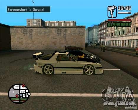 MAZDA FC3S DRIFT TUNE pour GTA San Andreas sur la vue arrière gauche