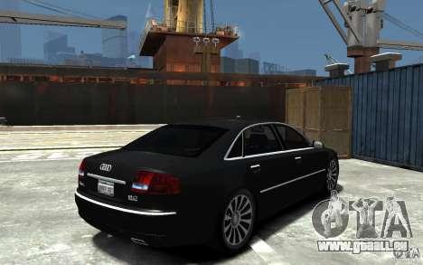 Audi A8L W12 Quattro pour GTA 4 est un droit