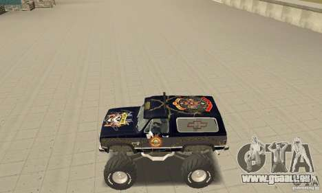 Chevrolet Blazer K5 Monster Skin 2 für GTA San Andreas