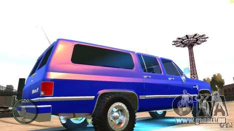 Chevrolet Suburban 1986 pour GTA 4 est un droit