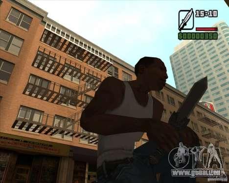 Gladius Knife für GTA San Andreas zweiten Screenshot