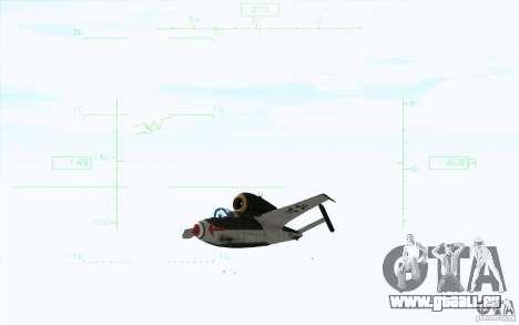 Henkel 162A Salamander pour GTA San Andreas sur la vue arrière gauche