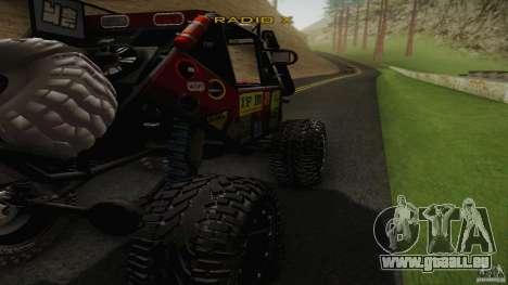 Buggy Off Road 4X4 pour GTA San Andreas laissé vue