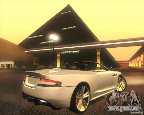 Aston Martin DBS Volante 2009 für GTA San Andreas Innen