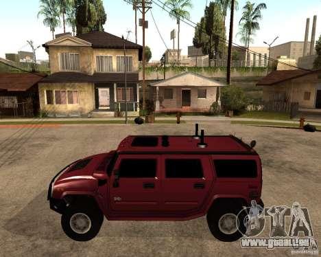 Hummer H2 SE pour GTA San Andreas laissé vue