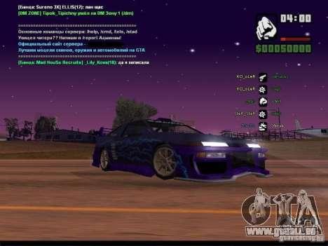 Ciel étoilé v2.0 (pour SA: MP) pour GTA San Andreas huitième écran