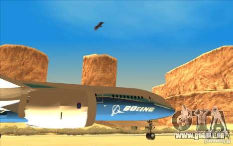 Boeing 787 Dreamlinear für GTA San Andreas rechten Ansicht