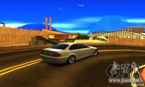 BMW M3 Tuneable pour GTA San Andreas sur la vue arrière gauche