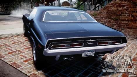 Dodge Challenger 1971 RT für GTA 4 hinten links Ansicht