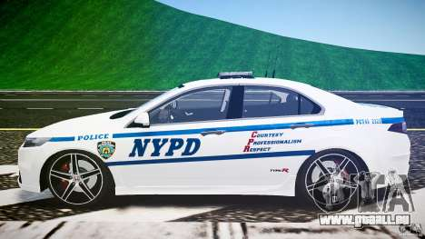 Honda Accord Type R NYPD (City Patrol 2322) ELS für GTA 4 Innenansicht