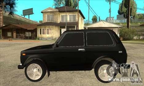 VAZ 21213 NIVA teinté pour GTA San Andreas laissé vue