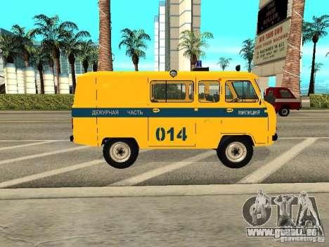 UAZ 2206 Polizei für GTA San Andreas zurück linke Ansicht