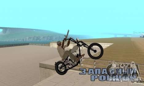 Chopper Shovel HD v2.1-chrome pour GTA San Andreas vue de droite